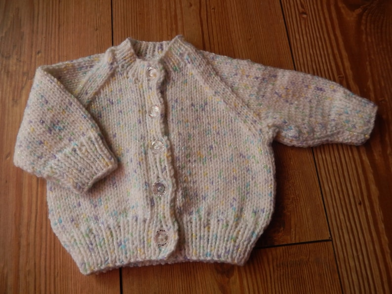 Hand Knitted Baby Cardigans Newborn yellow Girls' Clothing (0-24 Months)