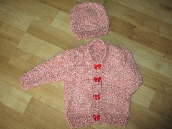061573d8d hand knit baby girl sweater knitted girls hat baby cardigan