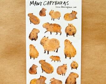 Many capybaras sticker