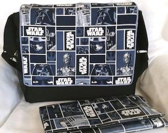 Star Wars Classic Blue Diaper Bag/Stroller Bag