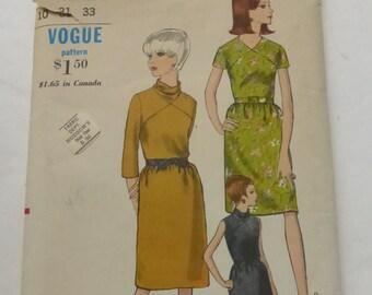 Vintage Vogue Pattern 6817 Misses Dress Size 10  Uncut