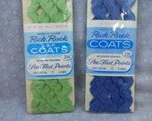 Vintage Mid-Century J P Coats 2 Packages Rick Rack