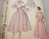 Vintage Simplicity Pattern 2444 The Answer Dress and Jacket Junior Size 11