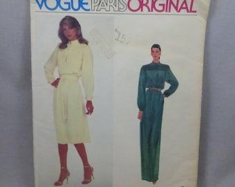 Vintage Vogue Paris Original 2352 Nina Ricci Dress Misses Size 10