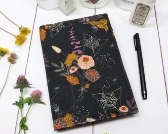 Bullet Journal Cover -  in Art Gallery Cast a Spell fabric - F1