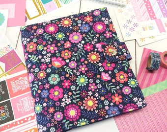 Planner Cover - in Michael Miller Bungalow fabric - F2