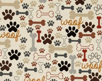Planner Cover - in Timeless Treasures Dog Bones and Paws fabric - F2
