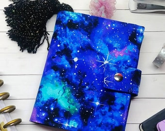 Planner Cover - in Out of this World fabric - F1
