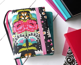 Bullet Journal Cover -  in Funky Floral fabric - H2