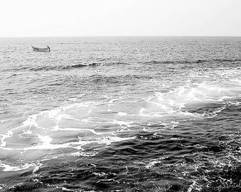 Mediterranean Sea Float - Italian Riviera Cinque Terre Water Landscape Nautical Coastal Home Decor Wall Art Nature Travel Photography Print