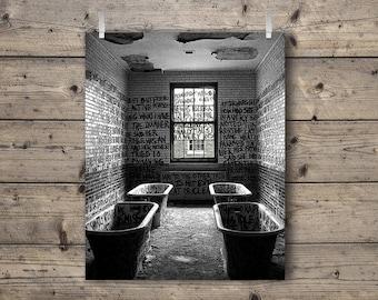 Manteno State Hospital / An Abandoned Asylum in Manteno, Illinois / Black and White Photography Print