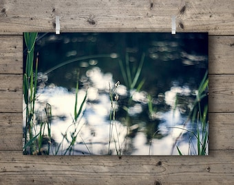 The Lakes No. 1 / Lakeside Series / Tallgrass Prairie Wetlands & Woodlands Nature Photography Print / Outdoors Home Decor / Soft Wall Art
