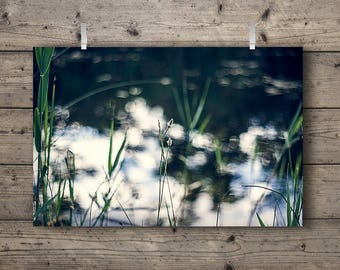 The Lakes No. 1 / Lakeside Series Photography Print Tallgrass Prairie Wetlands & Woodlands Nature Landscape Country Rustic Outdoors Wall Art