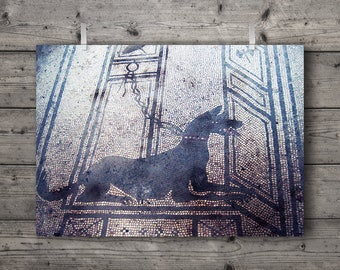 Beware of Dog / Pompeii, Italy / Travel Photography Print / Archaeology and Ancient Art History Home Decor / Tile Mosaic Wall Art
