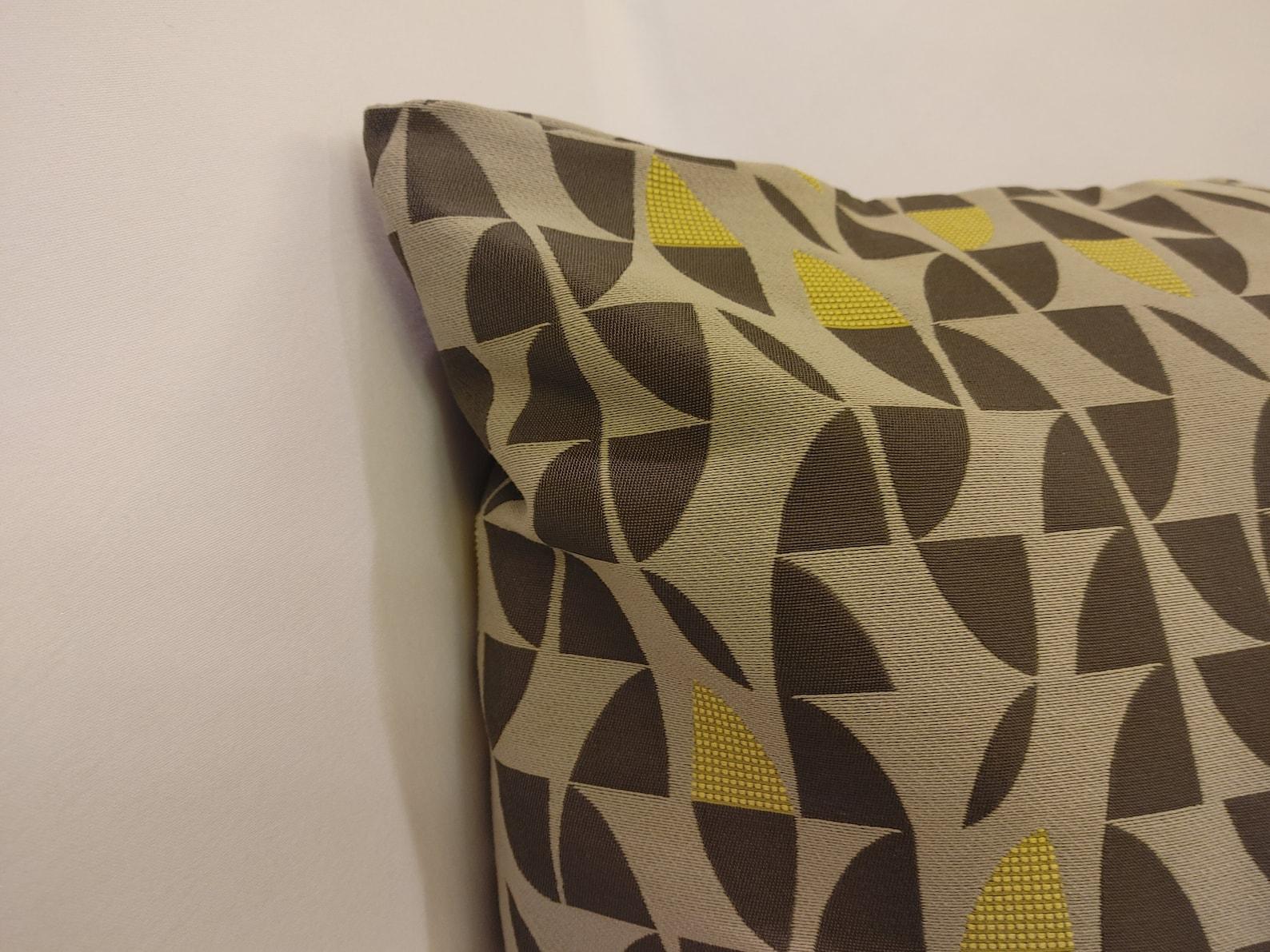 light gray dark gray  mustard throw pillow covermodern