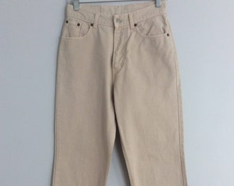 6840b8df Vintage 90s Sisley High Waist Beige Tan Jeans Mom Jeans Size 29 Made in  Italy