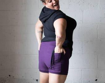 Booty Pocket Shorts, Pocket Shorts, Festival Clothing, Hoop Clothes, Yoga Shorts, Organic Clothing, Hemp Clothing, Booty Shorts