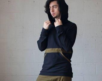 Men's Pocket Pullover, Men's Pullover, Kangaroo Pocket, Men's Hoodie, Men's Yoga, Festival Wear, Burning Man, Hemp Clothing, Men's Wear