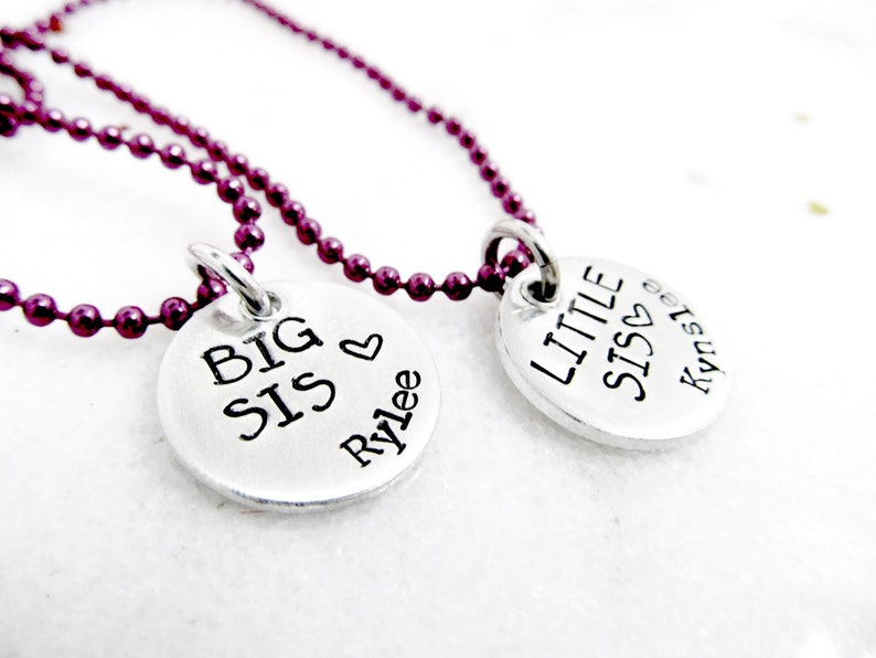 Big Sis Little Sis Necklace Set  Sisters Necklaces  image 0