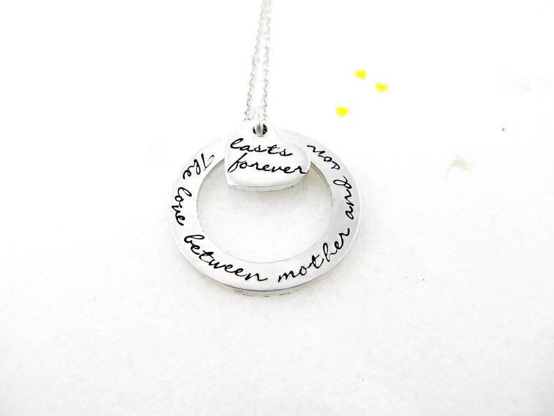 The Love Between a Mother and Son Lasts Forever Necklace  image 0
