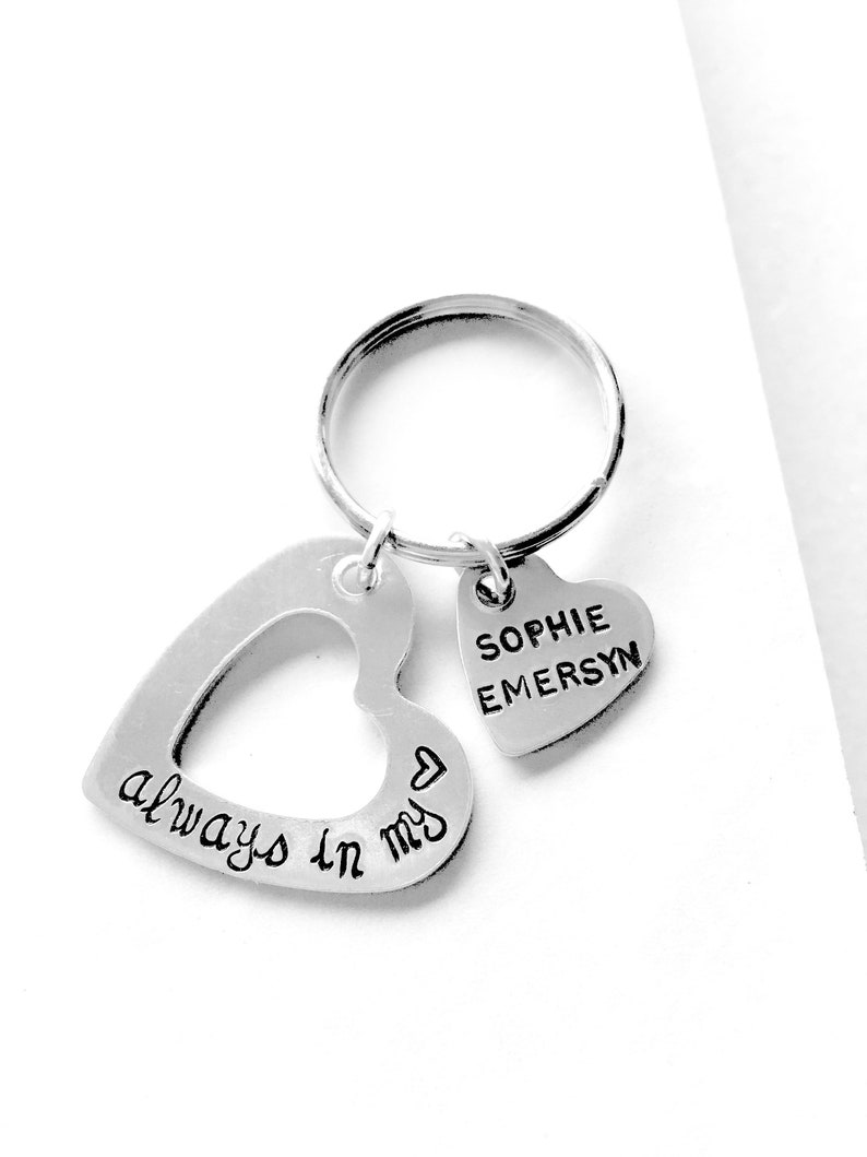 Always in my Heart Keychain  Trendy Christmas Gifts  image 0