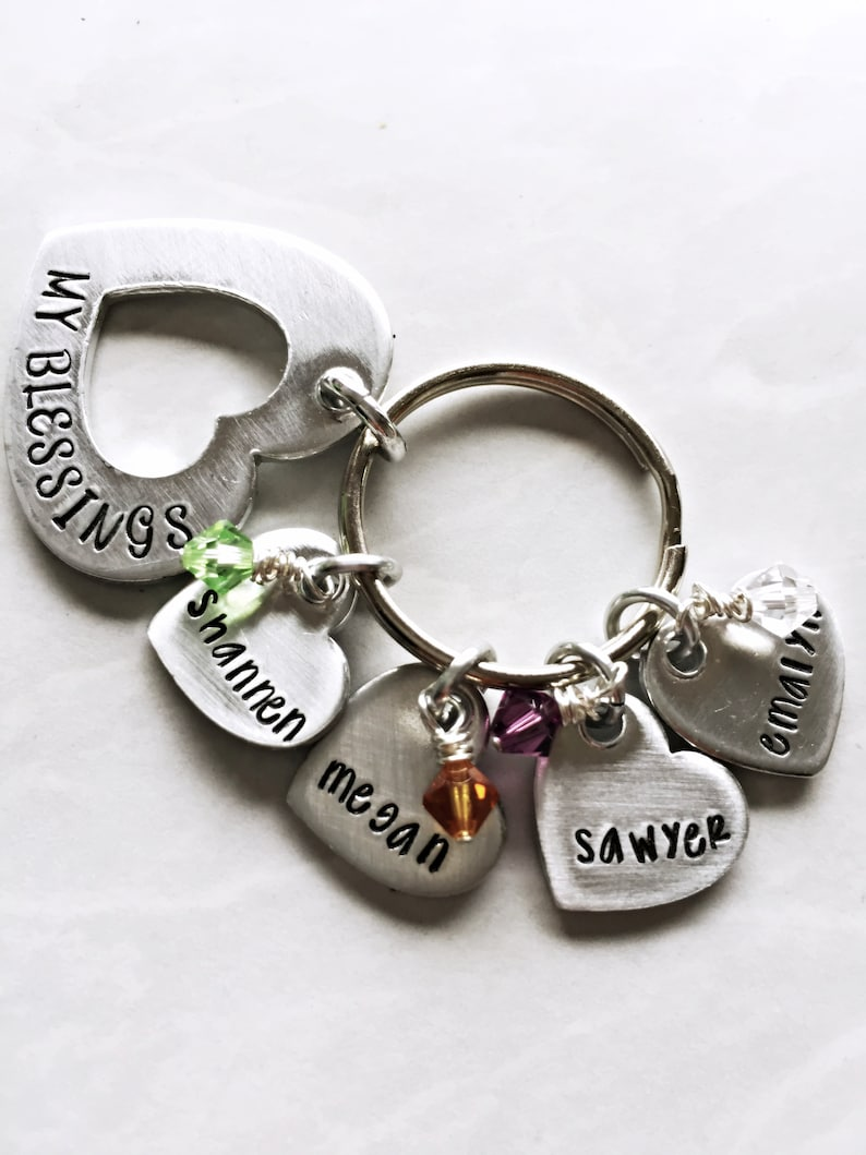 Personalized My Blessings Keychain for Her  Custom image 0