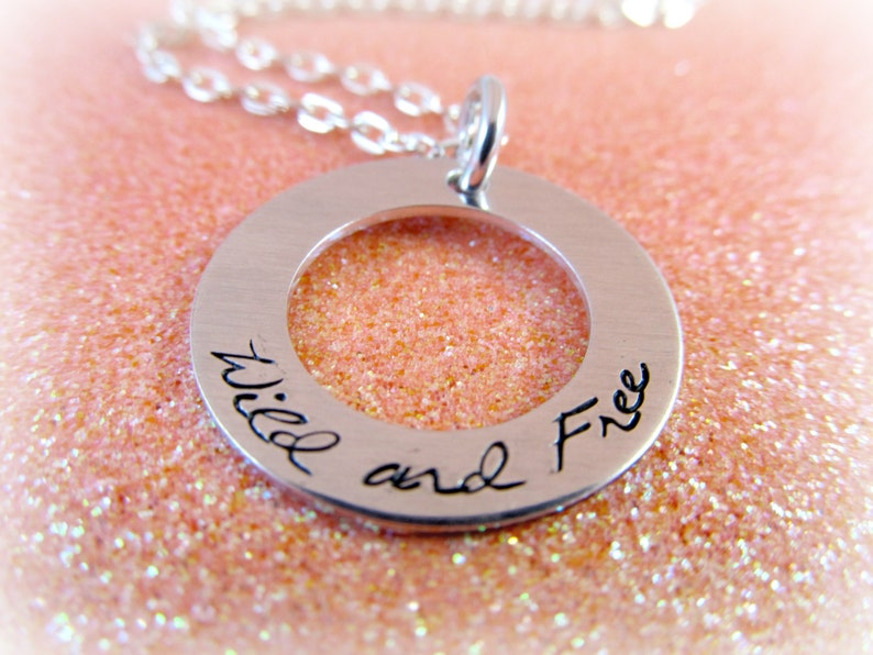 Wild and Free Necklace  Freedom Jewelry  Personalized image 0