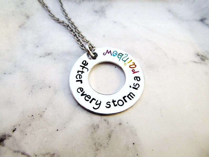 Rainbow Necklace  After Every Storm is a Rainbow of Hope  image 0