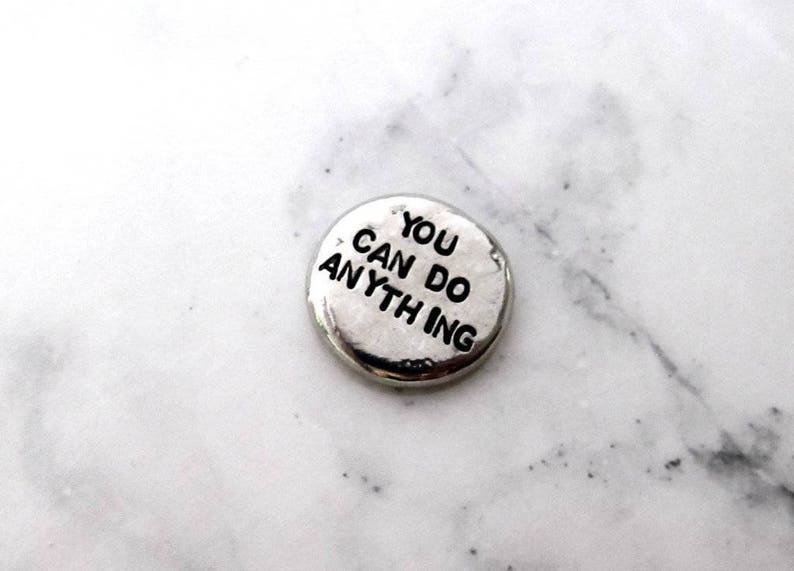 You Can Do Anything Pocket Pebble  Pewter Worry Stone Pocket image 0