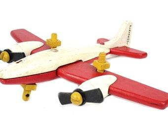 Vintage Playskool Wood Airplane