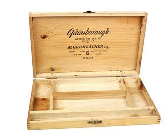 Vintage Wood Artists Box