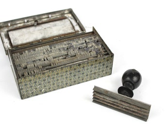 Vintage Perfect Printing Set -  Letter Stamps - Rubber Type Set