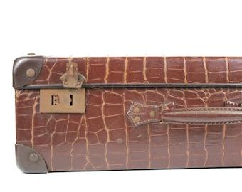 Vintage French Suitcase Cardboard