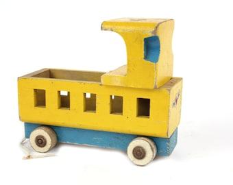Vintage Wood Toy Train