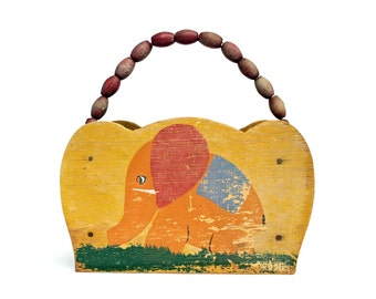 Vintage Wood Childs Box - Easter Box