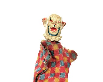 Vintage Clarabelle Clown Hand Puppet Howdy Doody