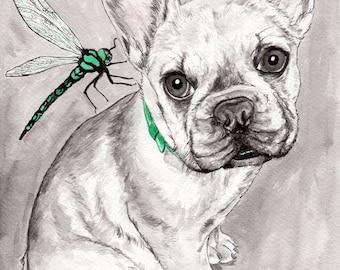 French Bulldog art - high quality lovely French Bulldog gift - dog gift - dog lover - French Bull Dog painting - French Bull Dog gift