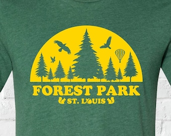 Forest Park - A STL City Shirt by Benton Park Prints, St Louis, Saint Louis, STL