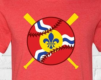 STL Flag Baseball Tee
