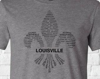 Louisville Fleur-de-lis Neighborhoods Tee