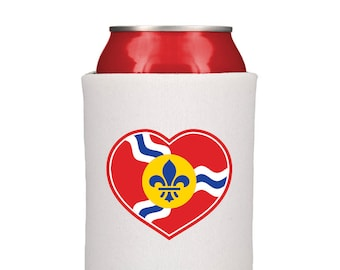 STL Heart Flag Can Cooler