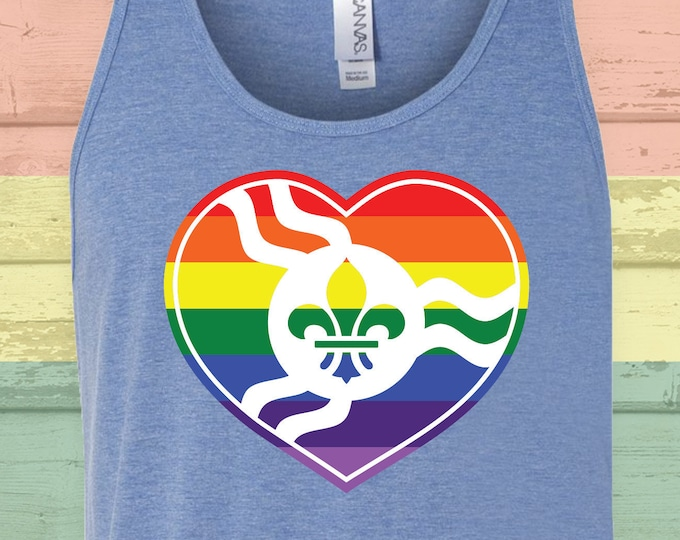 Featured listing image: STL Rainbow Heart Tank