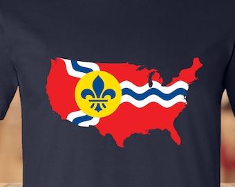 St. Louis, USA - STL Flag Tee