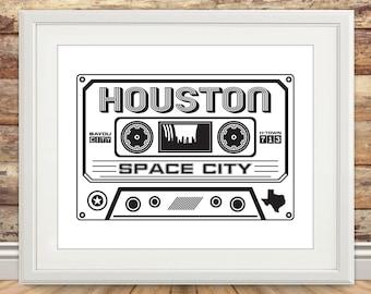 Houston Cassette Print