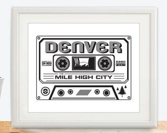 Denver Cassette Print