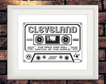 Cleveland Cassette Print