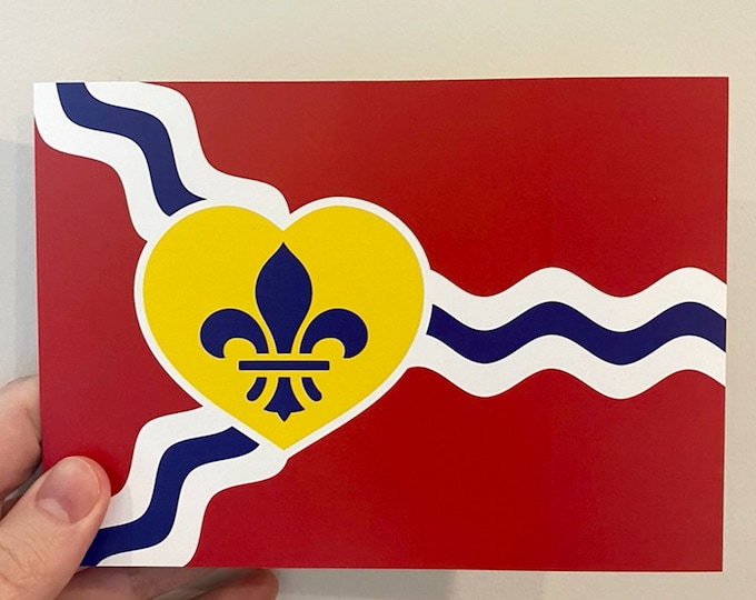 Featured listing image: STL Heart Flag Postcard Packs