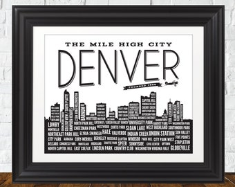 Denver Neighborhoods Art Print