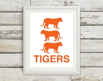 Tigers, Tiger, Tiger Print, Tiger Art, Kids Wall Art, Jungle Print, Safari Poster, Kids Bedroom, Kids, Bedroom Art, Safari Nursery