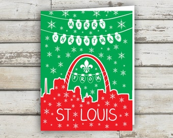 St Louis, Saint Louis, STL, St Louis Arch, Christmas Card, Holiday Card, STL Holiday Card, Saint Louis Holiday Card, St Louis XMAS